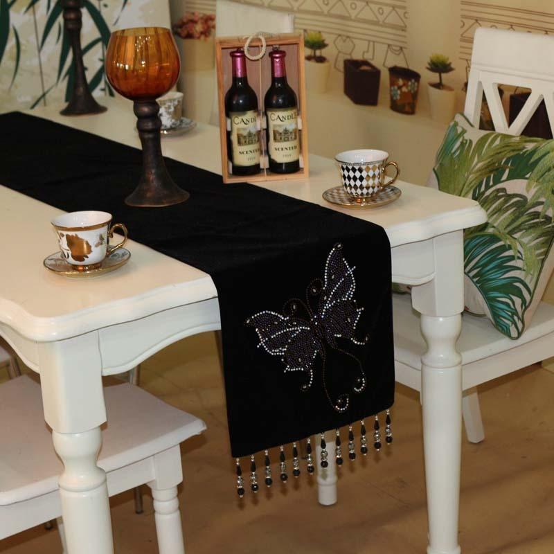 Popular beaded table runner buy cheap beaded table runner - Linge de table luxe ...