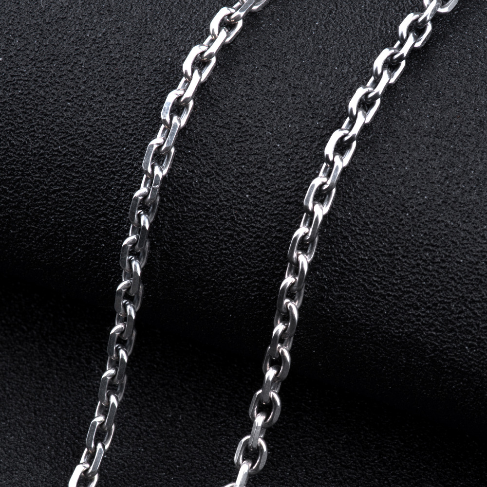mens chain figaro gauge italy sterling jewelry men bling necklace silver