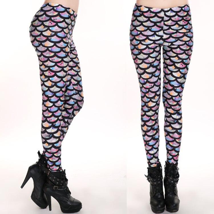 Plus size 4XL fish scales mermaid digital printed women leggings fitness  slim leggings pencil pants leggings - Popular Plus Size Mermaid Legging-Buy Cheap Plus Size Mermaid