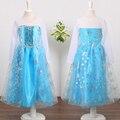 Summer Girls Dresses de los Bebés de manga larga de la nieve reina Cosplay Vestido Vetidos Ropa Niños Partido de La Princesa Vestido de Traje de Niño