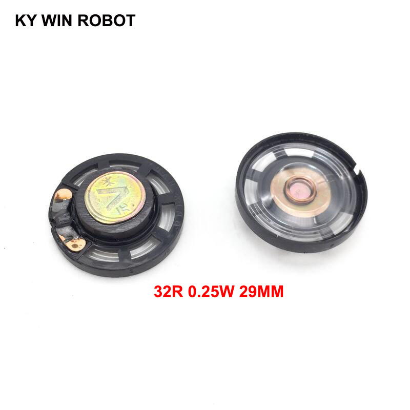 Apprehensive 5pcs/lot New Ultra-thin Speaker Doorbell Horn Toy-car Horn 32 Ohms 0.25 Watt 0.25w 32r Speaker Diameter 29mm 2.9cm Thickness 9mm Passive Components Acoustic Components
