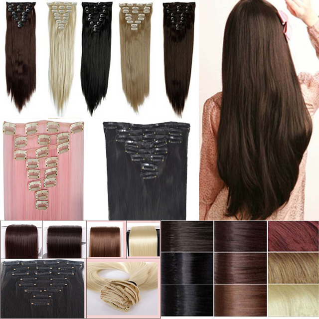 Us Fast Shipping 8 Piece 26inch Clip In Hair Extensions 18clips Full