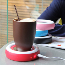 Arco Iris creativa Calienta Tazas USB Taza Caliente Coaster Home Office Calentador USB Powered Bebidas Placemat Estera de tabla de Té Café Leche Pad
