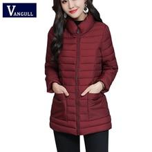 Vangull Winter Women Parkas Coat Casual Solid Slim short Jackets 2019 Autumn Lon