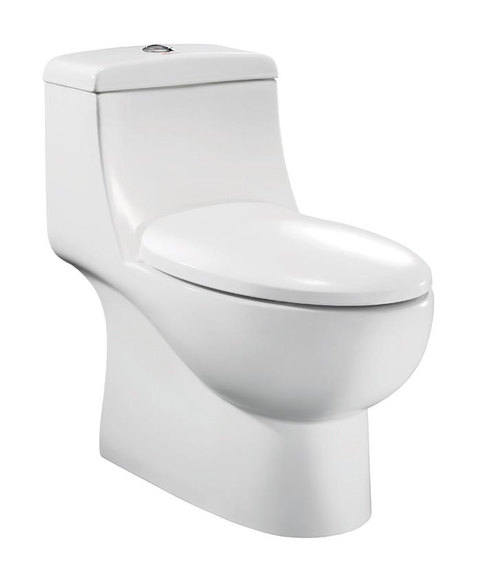 Western Unique Portable Toilet Siphon Toilet Glazed One