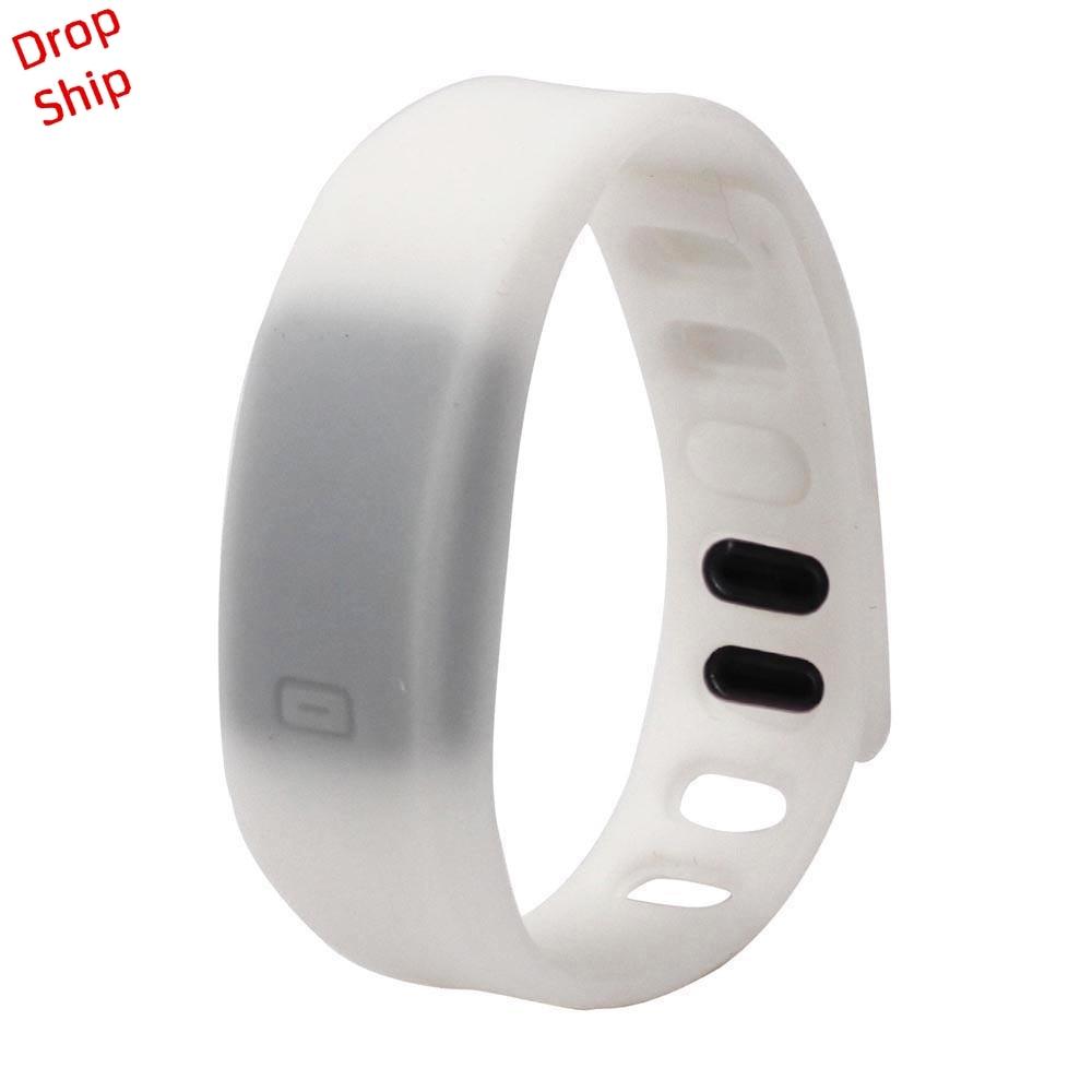 Stylowa hurtownia Mężczyźni Kobiety Relogio Rubber LED Watch Data - Męskie zegarki - Zdjęcie 5