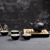 Japanese Teapot Set Travel Handmade Ceramic Outdoor Tea Set Kungfu Kettles 1 Pot 4 Tea Cups with Tray Drop Shipping