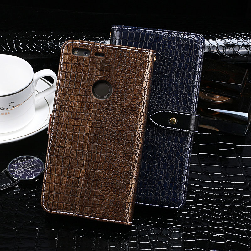 Case For HTC Google Pixel XL Case Cover Crocodile Grain Flip Leather Case For HTC Google Pixel XL Cover Business Phone Case
