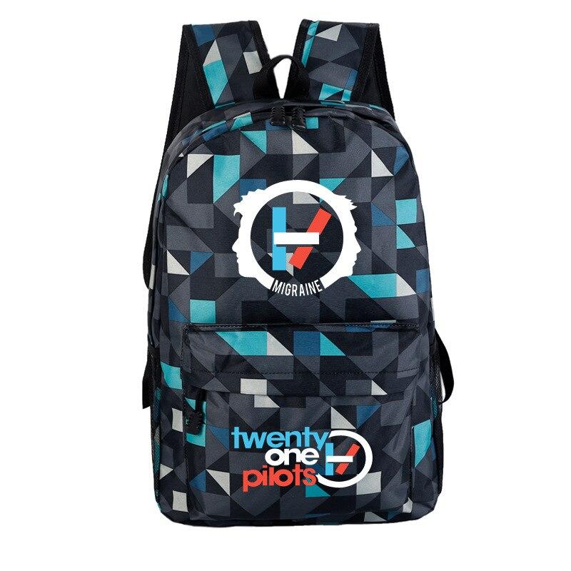 Men Backpack Bookbag School-Bags Canvas Pilots Rock Twenty Galaxy Women Teenage Girls