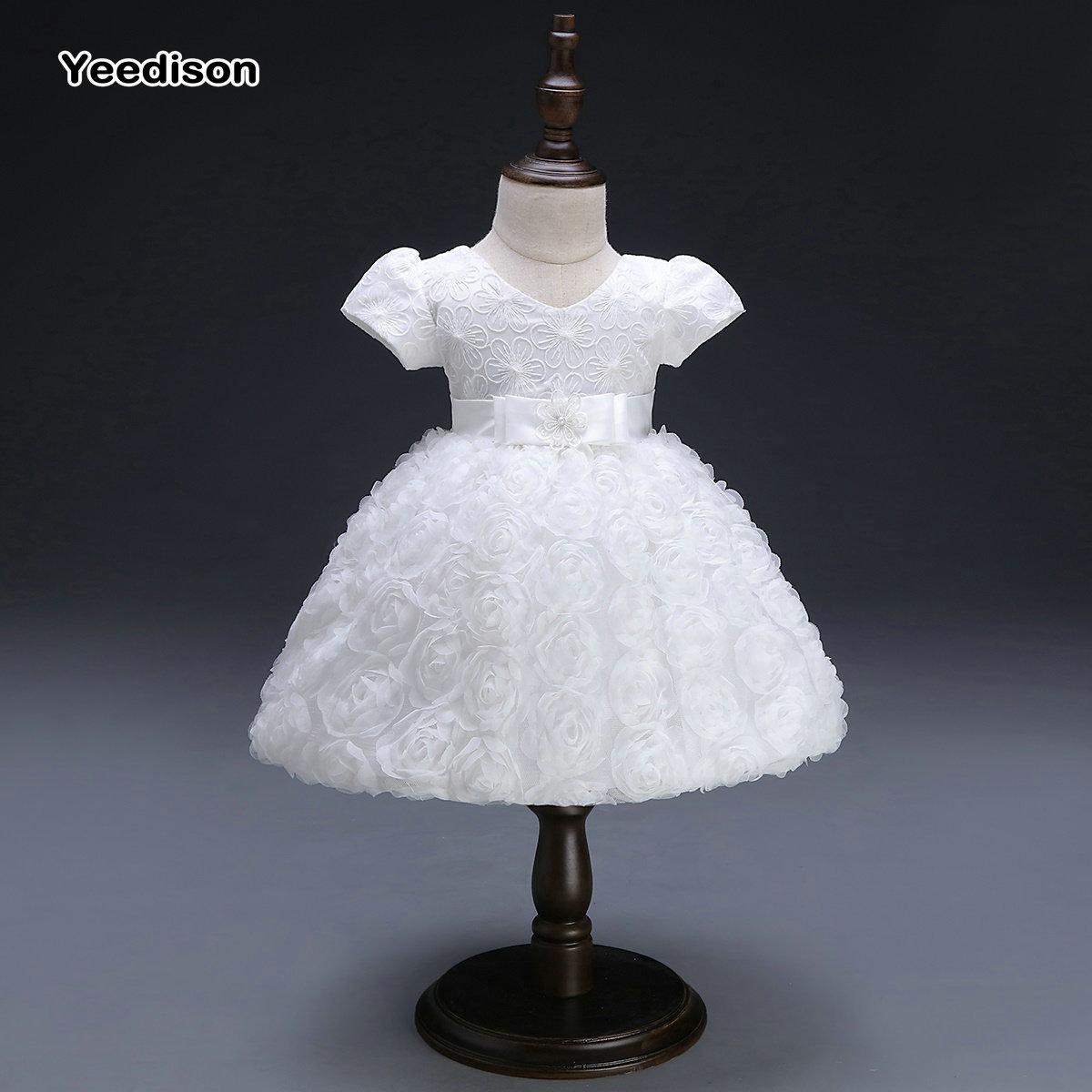 Yeedison Kurzarm Baby Mädchen Kleid Prinzessin und Hochzeit Tutu ...