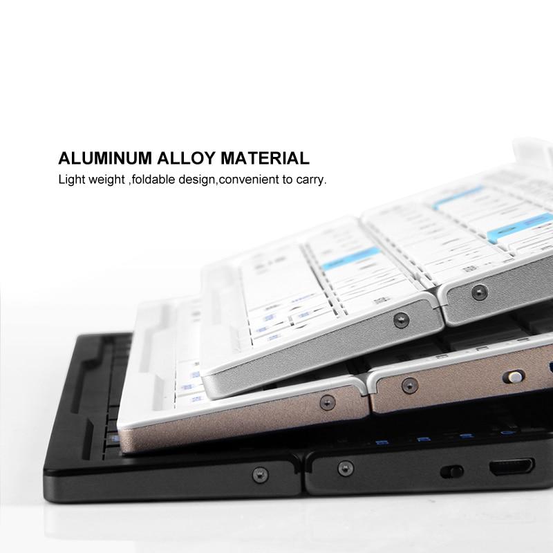 ipad mini black B.O.W Ultra Slim Mini Foldable Bluetooth Keyboard For iPhone X 8 7 6S 6 Plus, iPad Mini/Pro / Air, Samsung Smartphones, Black (3)