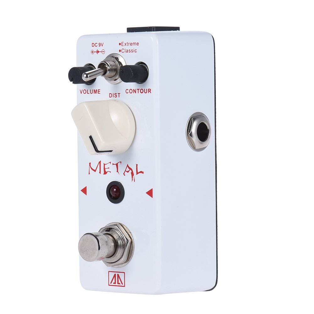 AROMA AHOR-5 Guitar Effect Pedal Classic Heavy Metal Distortion Guitar Effect Pedal 2 Modes Aluminum Alloy Body True Bypass aroma adl 1 aluminum alloy housing true bypass delay electric guitar effect pedal for guitarists hot guitar accessories