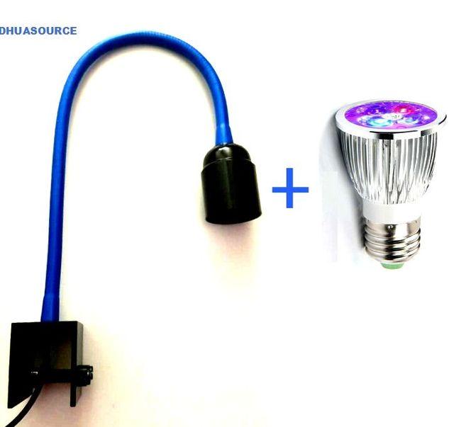 LED Aquarium Light Grow Lighting Clamp Lamp Plant Lamp with Saltwater resistant Gooseneck for Fish Coral Reef Algaes Flower