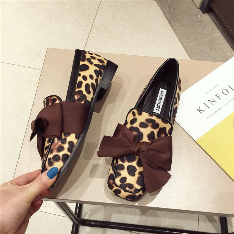 Wellwalk Ballet Flats Woman Shoes Leopard Loafers Women Ballerina Flats Shoes Ladies Black Flats Female Moccasins Shoes Spring 14