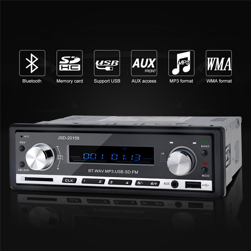 12v stereo bluetooth car audio mp3 player usb fm radio. Black Bedroom Furniture Sets. Home Design Ideas