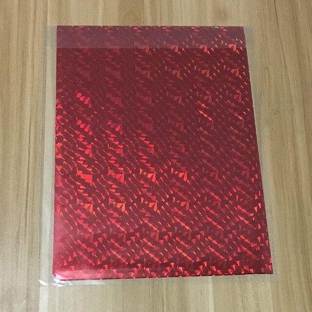50 шт. золотой черный красный горячего тиснения фольги бумажный ламинатор для ламинирования переноса на элегантность лазерный принтер бумага для рукоделия 20x29 см A4 - Цвет: Red Glass