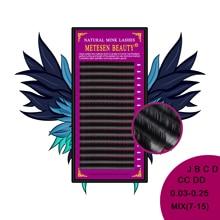 METESEN BEAUTY mink eyelashes 7-15mm Mixed In One Tray False Eyelash 16lines Silk Cilios Soft Individual Eye lash Extensions