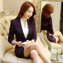 Novelty Purple Long Sleeve Spring Autumn Formal Blazer Coat For Business Women Ladies Office Work Wear Blazers Jackets Outwear