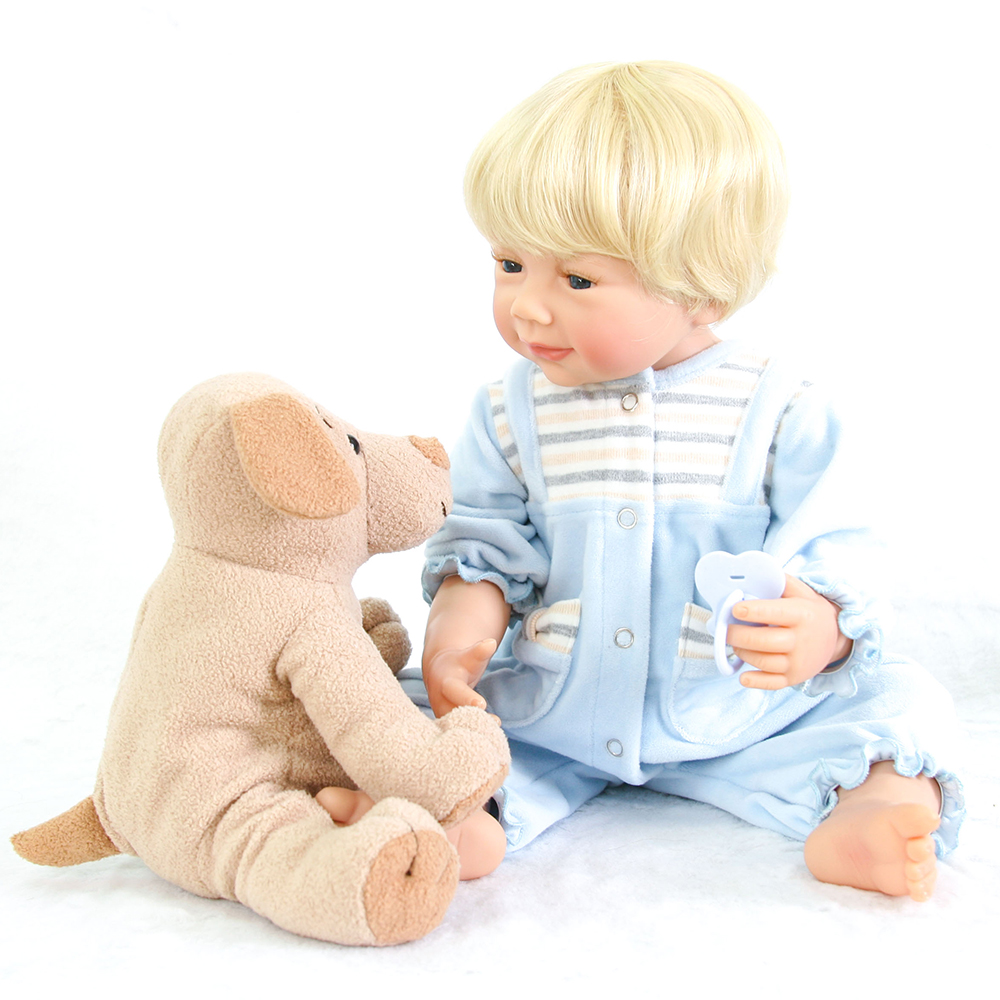 Washable Full Body Silicone Reborn Baby Boy Dolls Toys for Children Girl Boy Bedtime Play with Plush Bear Doll Toys new arrival washable full body silicone reborn baby girl dolls toys for children girl boy birthday gifts plush dark doll toys