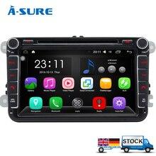 """A-sure 8 """"Android 5.1 2 Din de Radio del GPS para VW PASSAT B6 Polo Sharan TIGUAN TOURAN CARRITO de GOLF 5 Mk6 T5 ASIENTO Skoda DAB + DVD"""