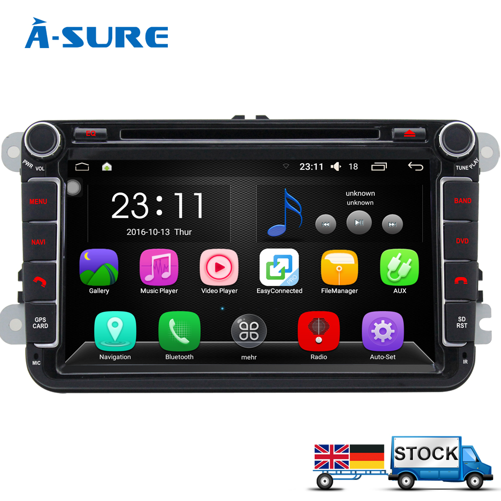 A Sure 8 Android 6 0 2 Din Gps Radio For Vw Passat B6 Polo Sharan