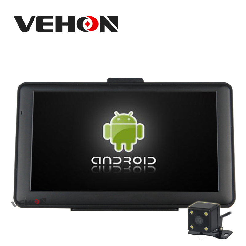 VEHON 7 Capacitive Screen Android GPS 8G 512MB FM AV-IN WIFI Car Truck Navigator Quad Core 1.3GHz Truck Map 5 resistive screen wince 6 0 gps navigator w fm transmitter tf 4gb brazil map black red