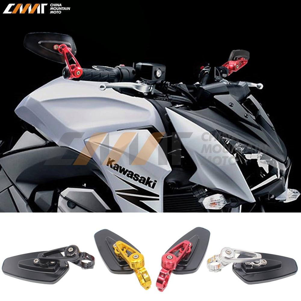 RM 061B RD Aluminum 7 8 22mm Motorcycle Sport Bike Moto Bar End Mirror Rearview Side