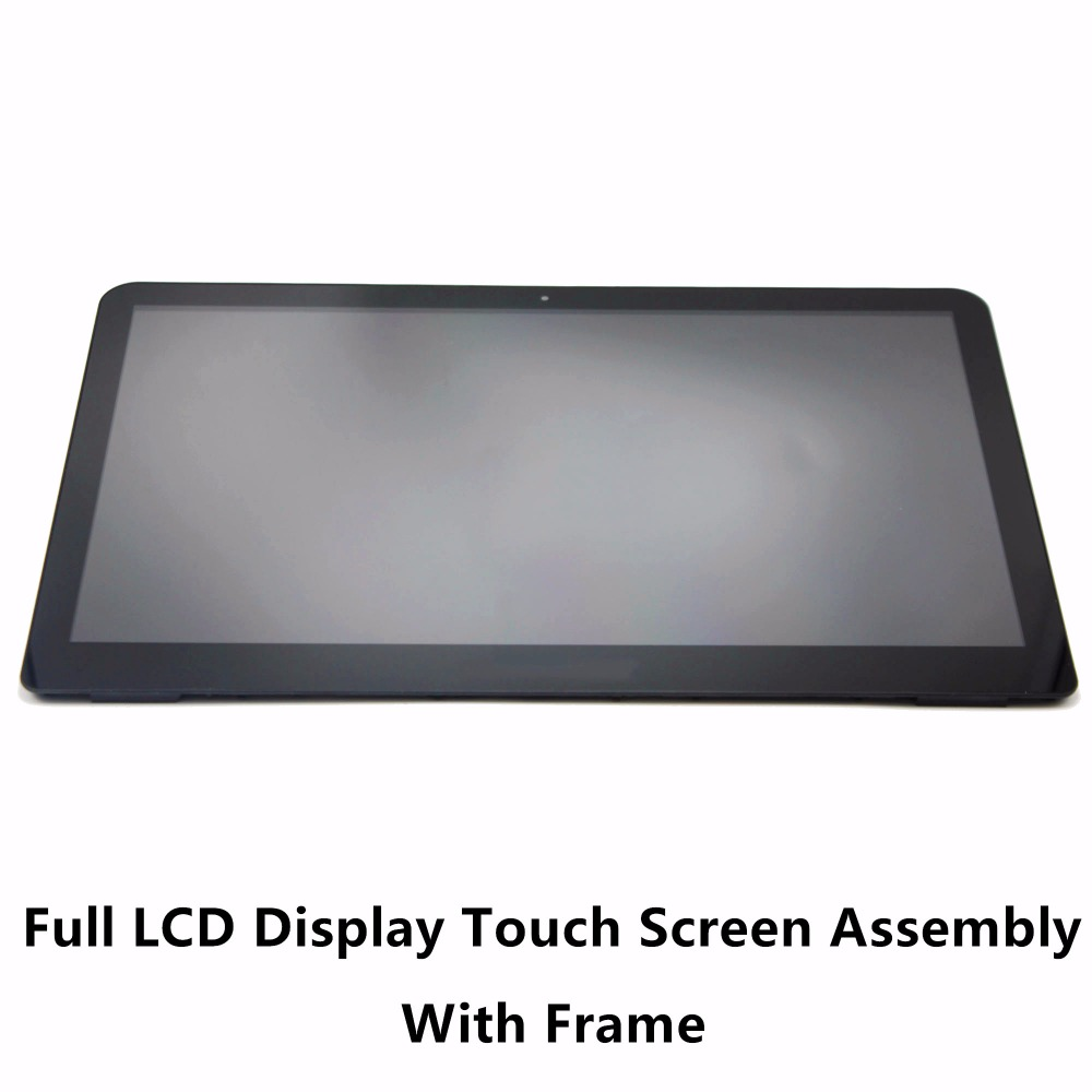 LCD Screen + Touch Digitizer + Bezel LCDOLED Replacement 15.6 inches FHD LED LCD Display Touch Screen Digitizer Assembly Bezel with Board for HP Envy X360 15t-w000 15t-w100 15t-w200 15t-w Series