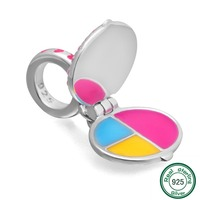 ChaWin 100 925 Sterling Silver Woman Pressed Powder Charm Fit DIY Charm Bracelets Necklaces