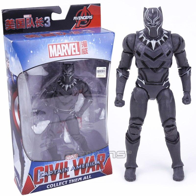 Marvel Avengers Iron Man Schwarz Panther Hawkeye Kapitän Amerika Vision Black Widow PVC Action Figure Sammeln Modell Spielzeug Boxed