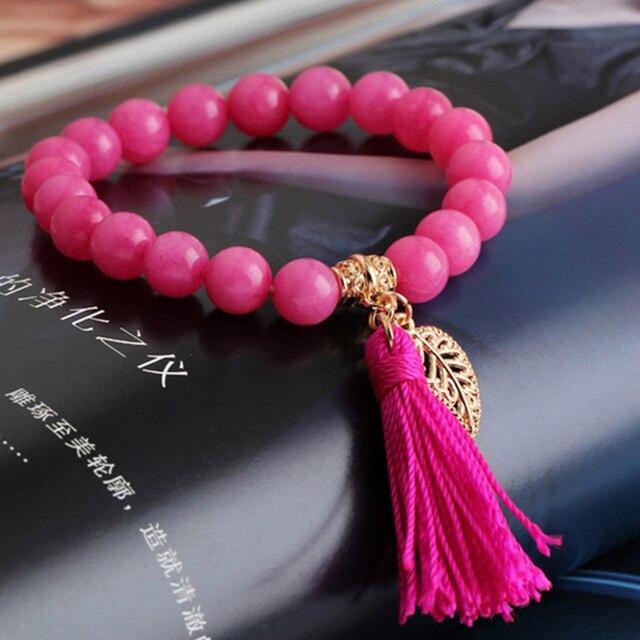 Turquoise Braclet Pulseras Natural Stone Beads Bracelet