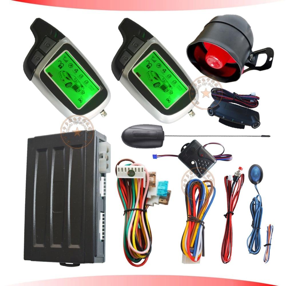 Système d'alarme automatique de voiture d'arrêt de démarrage d'allumage de moteur à distance avec la fenêtre automatique enroulant le capteur de choc de sortie et l'alarme illégale de démarrage