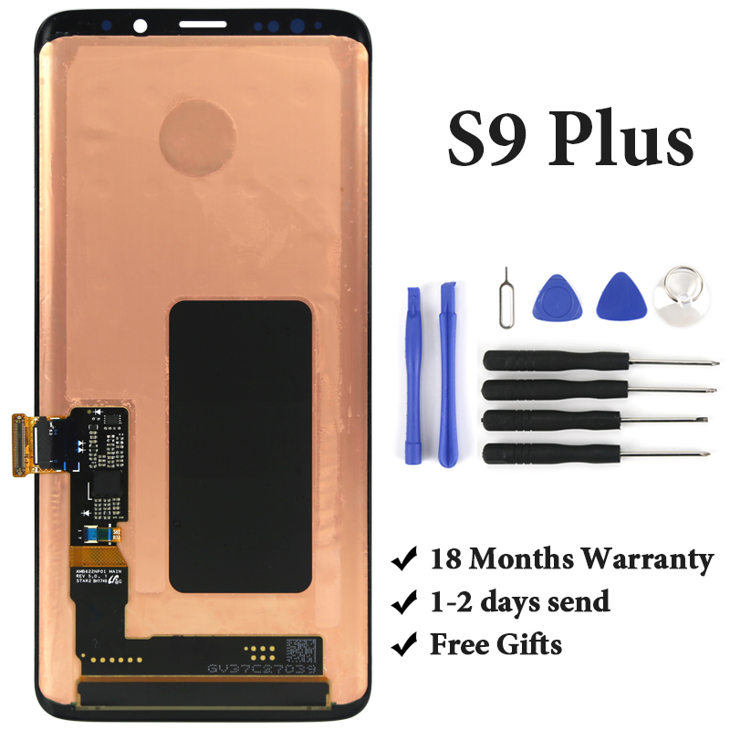 100% test pour Samsung S9 plus écran lcd pas de pixel mort avec cadre pour téléphone mobile G965 G965F écran lcd assambly remplacement