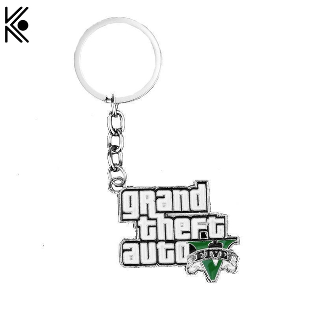 J R Spiel Ps3 Gta 5 Keychain Grand Theft Auto V Logo Keyring
