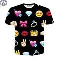 Mr.1991 New summer style short sleeve girls t-shirt fashion emoji 3D printed teens tshirt children's tops 11-20 years  DT23