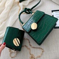2019 Fashion New Tote bag Quality Leather Women's Designer Handbag Crocodile pattern Chain Shoulder Messenger Bag Bolsos Mujer