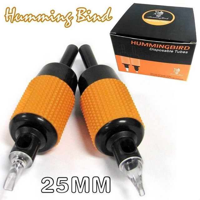 "Diamond 9 Tattoo Hummingbird Disposable Grip/Tube Combo Machine Kit Set Supply 20PCS 1""(25mm)"