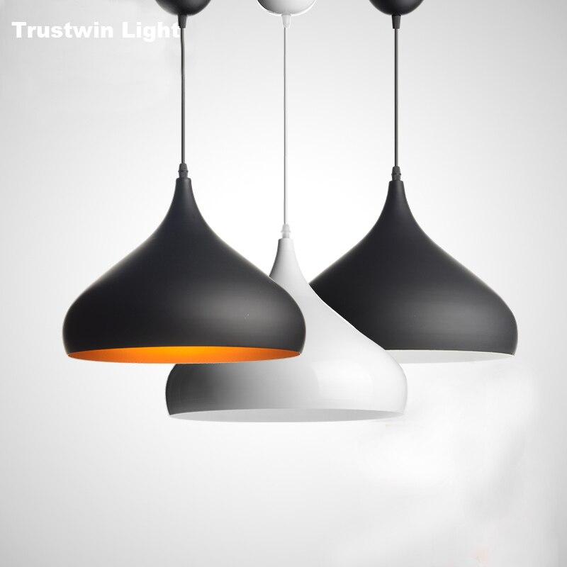 Black White Gold Pendant Light Modern Aluminum Pendant