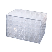 JEYL 100 Grids Plastic Empty Nail Art Storage Box Tools Jewelry Rhinestone Beads Nail Polish Container Organizer Pullable Case