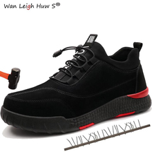 Men Safety Shoes and Unisex Work Sneakers Mens Steel Toe Lightweight Anti-smashing breathable wear-resisting Both men women
