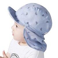 Baby Boy Sun Hats Spring Summer Caps With Shawl Cotton Bucket Hat Baby Kids Boy Cap