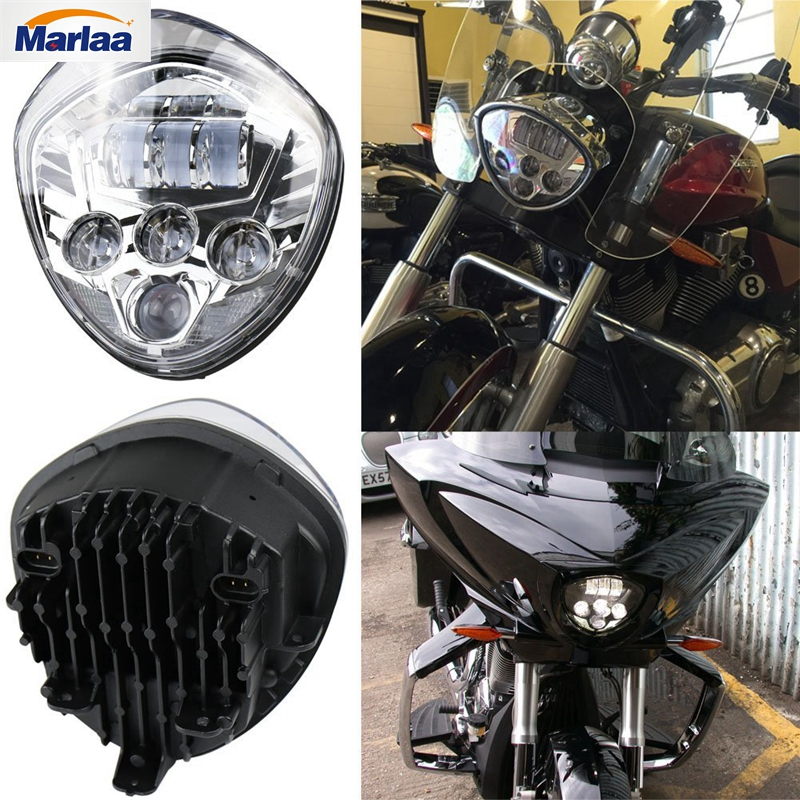 60w Motorcycle Headlights Assembly LED Motorcycle Headlamp Kit for Victory Motorcycle Headlight Accessory LED Motorcycle Lights for chery riich m1 headlights headlight assembly front lights light headlamp 1pcs
