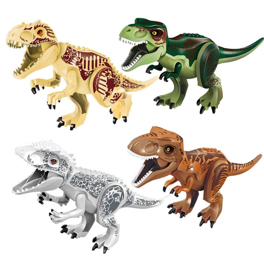 10PCS/LOT Green Tyrannosaurus Rex Dinosaur Jurassic World Park Bricks Model Building Blocks Toys For Children10PCS/LOT Green Tyrannosaurus Rex Dinosaur Jurassic World Park Bricks Model Building Blocks Toys For Children