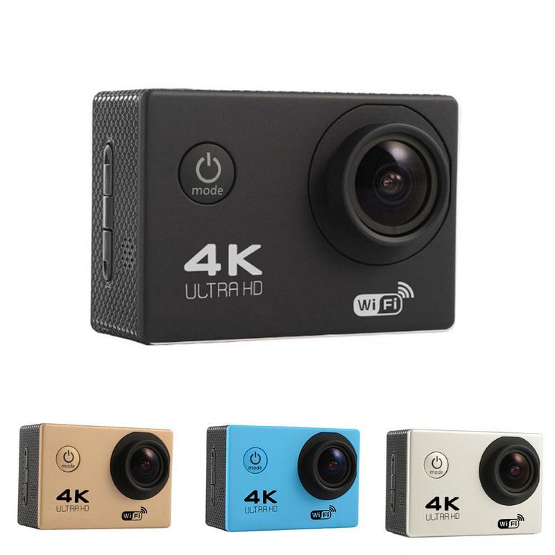 HAMTOD HK2TR 2.0 pouces écran LCD 170 degrés grand Angle HD 4 K WiFi caméra avec télécommande et boîtier étanche
