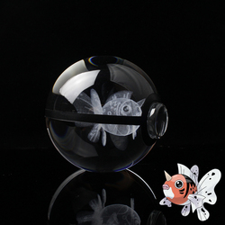 Seaking Design Poke Ball Crystal Pokemon LED Night Light 3D Miniatures Birthday Gifts for Kids
