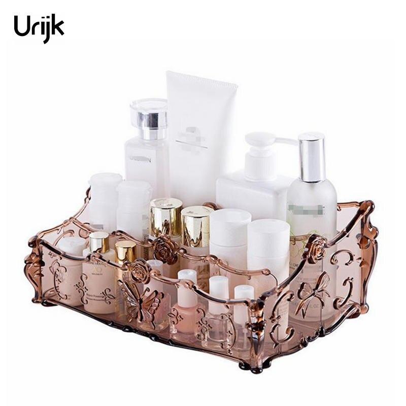 Urijk Acrylique Maquillage Organisateur pour Cosmétiques Boîte De Rangement Rack Maquillage Boîtes pour le Stockage Salle De Bains Accessoires De Bureau Organisateur