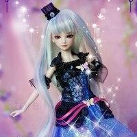 Kawaii Ye Luo Li Doll 29CM Ice Girl Reborn Doll Night Girl Makeup Change Makeup 14 Joints Can Move Bjd Doll Christmas Gift Toys