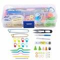 Полезный набор инструментов для вязания, крючок для вязания, аксессуары «сделай сам», товары для вязания с чехлом, детский набор для вязания...