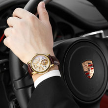 Mens Watches Top Brand Luxury GUANQIN Watch Pria Olahraga Militer Bercahaya Otomatis Mekanis Jam Tangan Kulit Montre Homme(China)