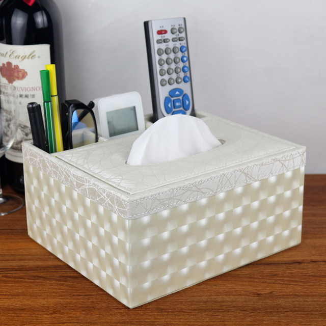 creative fashion coffee table compartment organizer office hotel household  living room leather desk tissue remote box - Aliexpress.com : Buy Creative Fashion Coffee Table Compartment